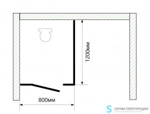 Сантехнические Перегородки 16мм из ЛДСП – 1 кабина